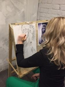 обучение рисованию в художественной студии