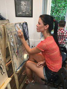 Как рисовать портрет красками