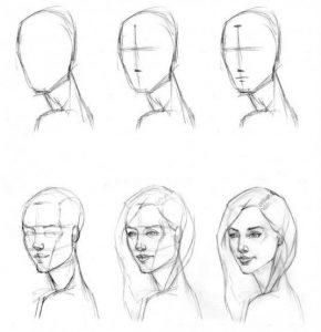 как рисовать голову человека карандашом поэтапно