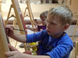 обучение рисованию детей в арт студии Матита
