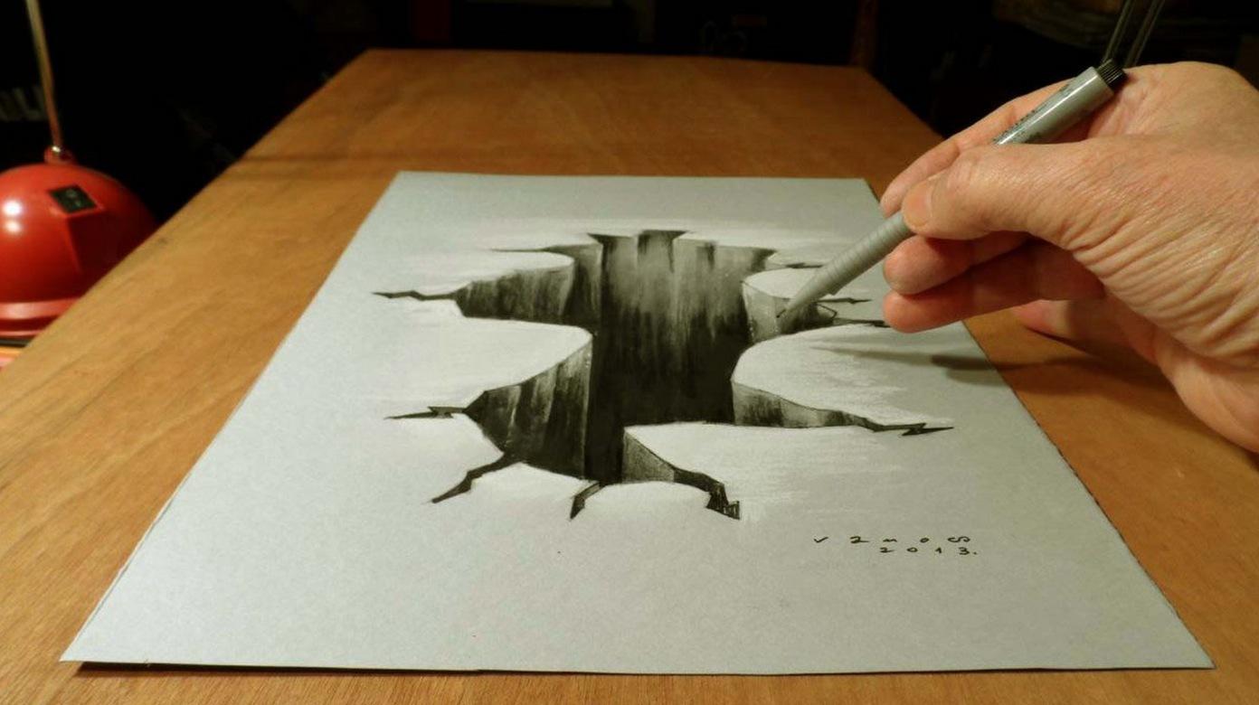 Как научиться рисовать на листе бумаги