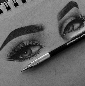 Как нарисовать брови на портрете