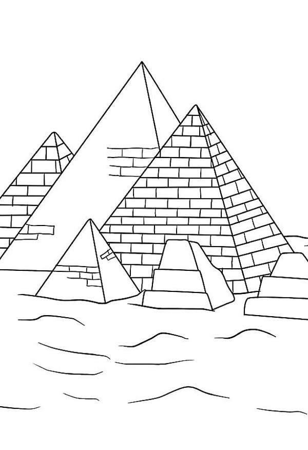 Картинки пирамиды египта карандашом