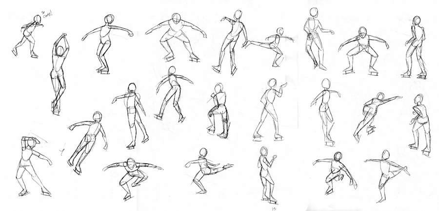 Рисунки человека в движении картинки